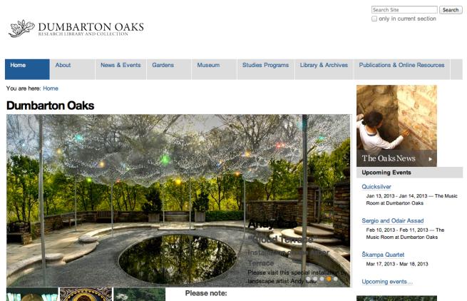 Unthemed doaks.org screenshot