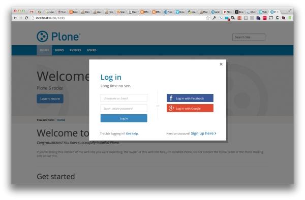 Plone 5 login design
