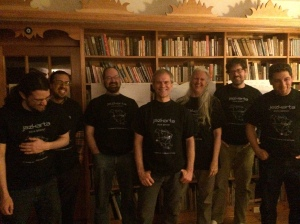Jazkarta team with brand spanking new t-shirts!