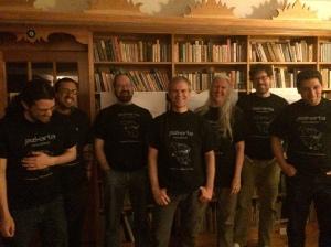 Jazkarta team with brand spanking new t-shirts!