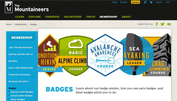 Mountaineers Badges