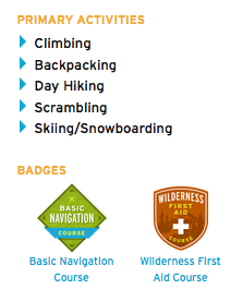 Mountaineers Profile Badges