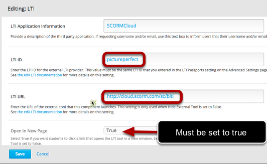 Adding SCORM packages to Open edX via SCORMCloud and LTI