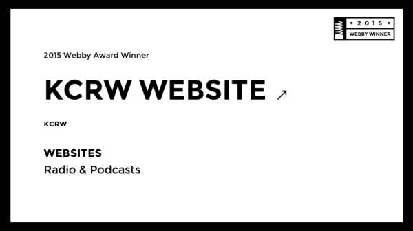 KCRW Wins Webby Award