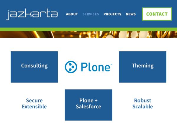 jazkarta.com Plone Landing Page