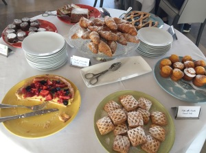 Breakfast buffet at the Hotel Mediterraneo - the pastry table
