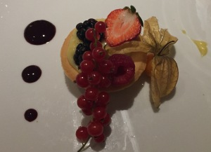 A typical dessert at the Hotel Mediterraneo