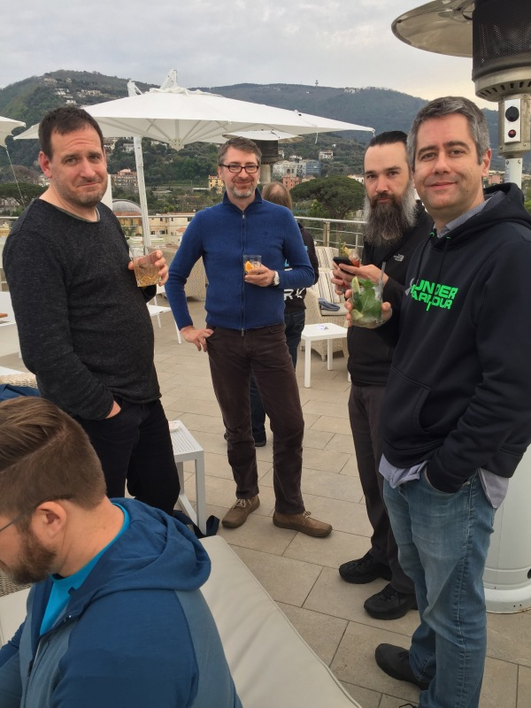 Sprinters on the rooftop of the Hotel Mediterraneo